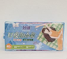 Гигиенические прокладки   40 шт ( 25 дневных+15 ночных ) cotton 100%