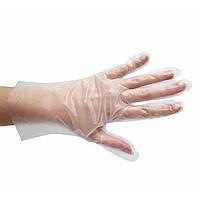 Перчатки одноразовые ТПЭ, эластомер, прозрачные, 100шт/уп
