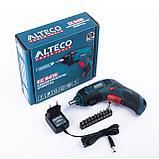 Аккумуляторная отвертка Alteco CC 0416, фото 9