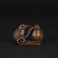 Нэцкэ «Тибетские Куропа́тки» Символ плодородия.