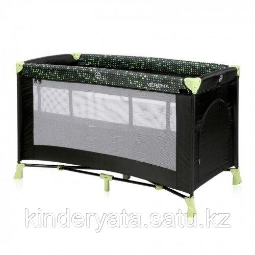 Кровать-манеж Lorelli Verona 2 черно-зеленый, серый