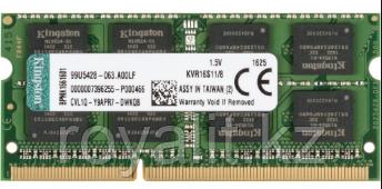 Модуль памяти Kingston DDR3 SoDIMM 8Gb