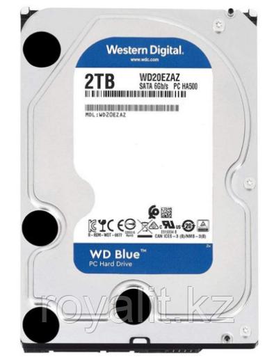 """Жёсткий диск HDD 2 Tb SATA 6Gb/s Western Digital Blue WD20EZAZ  3.5"""" 5400rpm 256Mb"""