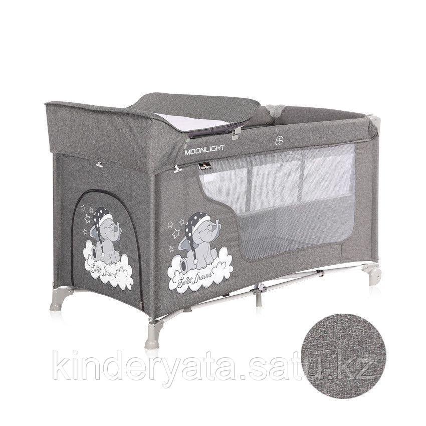 Кровать-манеж Lorelli Moonlight 2 серый