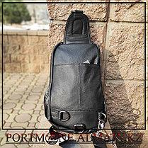 Кожаный рюкзак-слинг  BULLCAPTAIN, фото 3