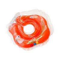 BABY SWIMMER Круг для купания ( 3-12кг) Оранжевый Полуцвет+внутри погремушка