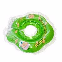 BABY SWIMMER Круг для купания ( 3-12кг) Салатовый Полуцвет+погремушка внутри