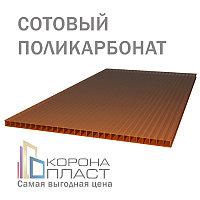 Сотовый поликарбонат 10 лет гарантии - Бронза-Коричневый 10мм