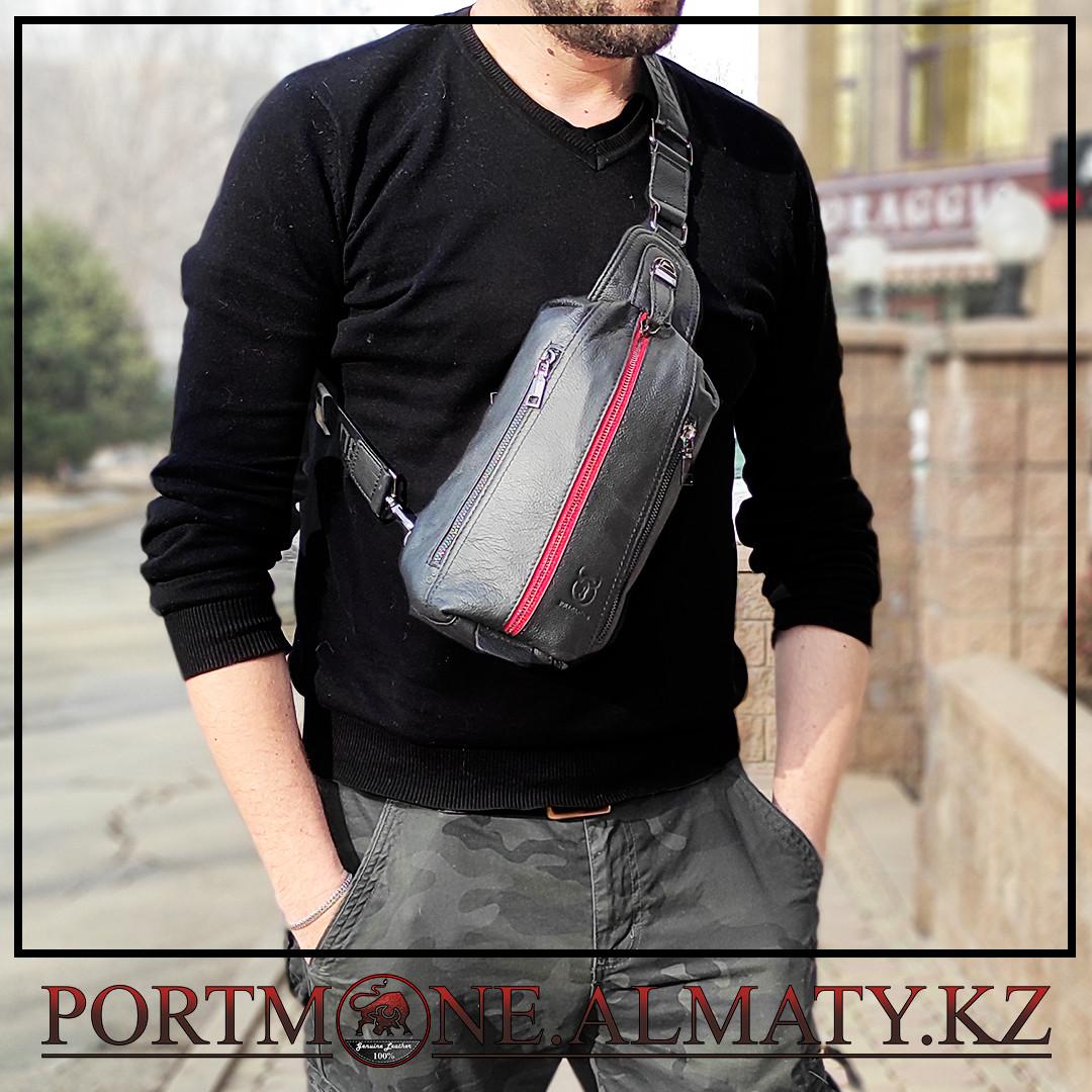 Кожаный рюкзак-слинг  BULLCAPTAIN
