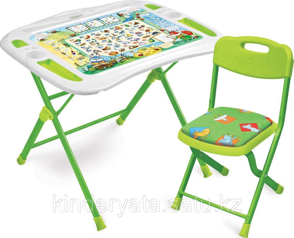 Набор детской мебели Ника  Веселая Азбука стол +мягкий стул от 3 до 7 лет