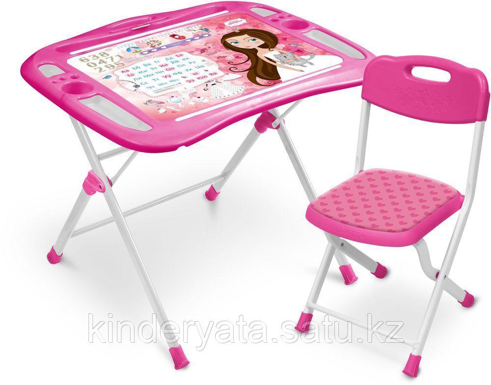 Набор детской мебели Ника  Маленькая принцесса стол +мягкий стул от 3 до 7 лет