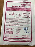 Перчатки из латекса, Derma-Tex, стерильные, опудренные, размер М, индивидуальная упаковка