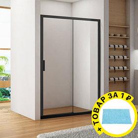 Душевая дверь в нишу Aquanet Pleasure AE60-N-140H200U-BT + коврик