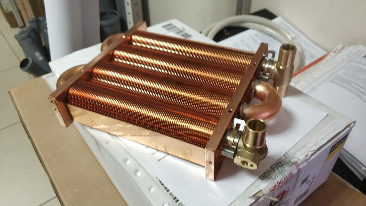 Теплообменник основной медный на газовый котел Daewoo на 100