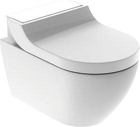 Унитаз подвесной Geberit AquaClean Tuma Comfort 146.294.SI.1 вставка белое стекло