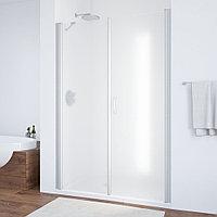 Душевая дверь в нишу Vegas Glass EP-F-2 135 07 10 R профиль матовый хром, стекло сатин