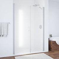 Душевая дверь в нишу Vegas Glass EP-F-2 150 07 10 L профиль матовый хром, стекло сатин