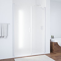 Душевая дверь в нишу Vegas Glass EP-F-2 160 01 10 L профиль белый, стекло сатин