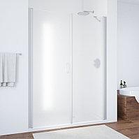 Душевая дверь в нишу Vegas Glass EP-F-2 170 07 10 L профиль матовый хром, стекло сатин