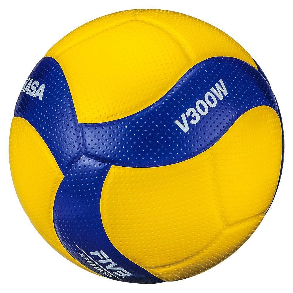 Мяч волейбольный Mikasa V300W FIVB NEW, желтый цвет, 5 размер