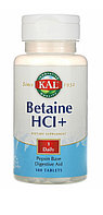 Бетаин. Betaine. (Фермент для пищеварения). 100 капсул.