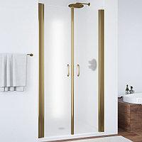 Душевая дверь в нишу Vegas Glass E2P 80 05 10 профиль бронза, стекло сатин