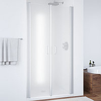 Душевая дверь в нишу Vegas Glass E2P 80 07 10 профиль матовый хром, стекло сатин