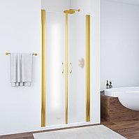 Душевая дверь в нишу Vegas Glass E2P 70 09 10 профиль золото, стекло сатин