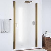 Душевая дверь в нишу Vegas Glass EP 80 05 10 профиль бронза, стекло сатин