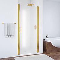 Душевая дверь в нишу Vegas Glass EP 60 09 10 профиль золото, стекло сатин
