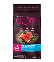 Сухой беззерновой корм для собак мелких пород Wellness Core Adult Small Breed Ocean лосось с тунцом