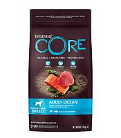Сухой беззерновой корм для собак средних и крупных пород Wellness Core Adult Ocean лосось с тунцом