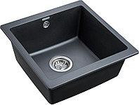 Комплект Мойка кухонная Paulmark Brilon PM104546-BLM черный металлик + Смеситель Paulmark Essen Es213011-418
