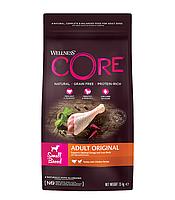 Сухой беззерновой корм для собак мелких пород Wellness Core Adult Small Breed Original курица с индейкой