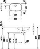 Комплект Смеситель Hansgrohe Logis 71090000 для раковины + Рукомойник Duravit D-Code 0338490000 встраиваемый, фото 4