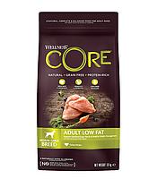 Сухой беззерновой корм для собак средних и крупных пород Wellness Core Adult Low Fat индейка с курицей