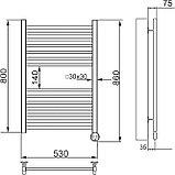 Полотенцесушитель электрический Ника Modern ЛМ-2 80/50 хром, фото 4