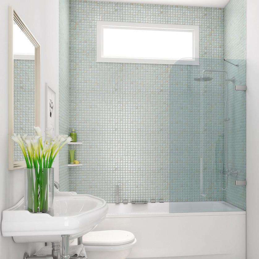 Шторка на ванну GuteWetter Trend Pearl GV-861A правая 60 см стекло бесцветное, фурнитура хром