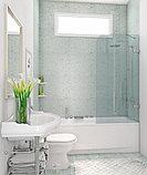 Шторка на ванну GuteWetter Trend Pearl GV-861A правая 60 см стекло бесцветное, фурнитура хром, фото 2