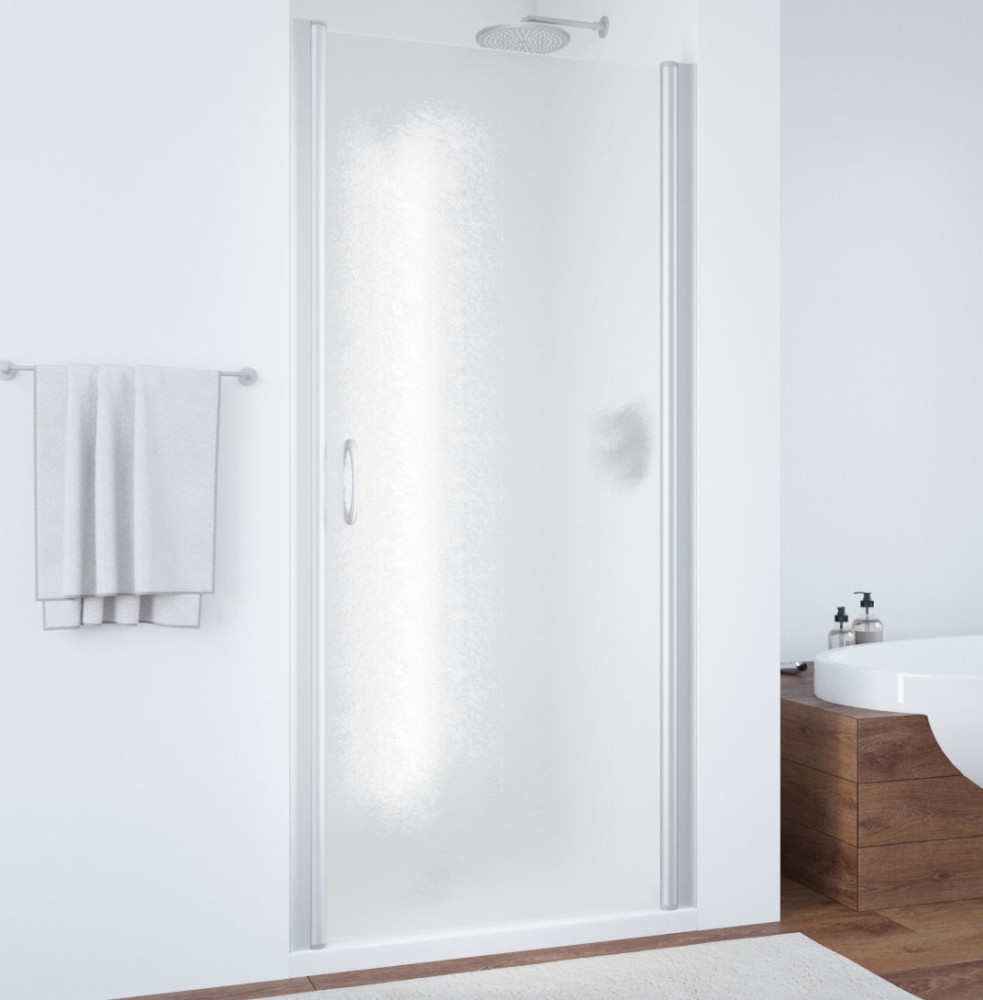 Душевая дверь в нишу Vegas Glass EP 65 07 02 профиль матовый хром, стекло шиншилла