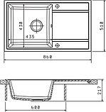 Мойка кухонная Florentina Арона 860 антрацит, фото 2