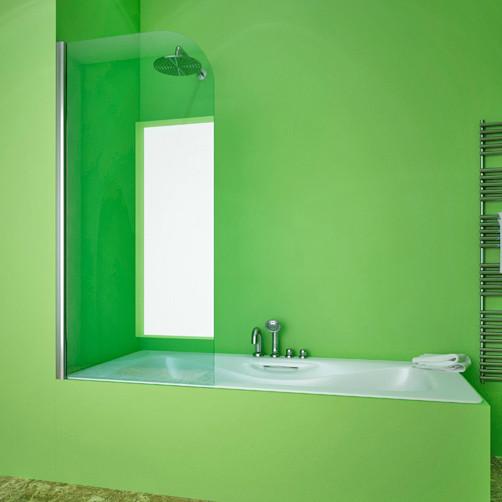 Шторка на ванну GuteWetter Lux Pearl GV-601A левая 70 см стекло бесцветное, профиль хром