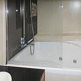 Шторка на ванну GuteWetter Lux Pearl GV-601A левая 70 см стекло бесцветное, профиль хром, фото 3