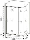 Душевой уголок Good Door Orion WTW-PD+SP-C-CH 130x90, фото 5