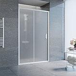 Душевая дверь в нишу Vegas Glass ZP 120 01 10 профиль белый, стекло сатин, фото 2
