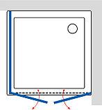 Душевой уголок GuteWetter Practic Square GK-402 правая 95x95 см стекло бесцветное, профиль матовый хром, фото 4