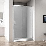 Душевая дверь в нишу Aquanet Alfa NAA6121 1200х2000 стекло прозрачное, профиль хром + коврик, фото 2
