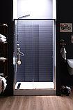 Душевая дверь в нишу Aquanet Alfa NAA6121 1200х2000 стекло прозрачное, профиль хром + коврик, фото 3