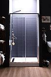 Душевая дверь в нишу Aquanet Alfa NAA6121 1200х2000 стекло прозрачное, профиль хром + коврик, фото 5