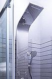 Душевая дверь в нишу Aquanet Alfa NAA6121 1200х2000 стекло прозрачное, профиль хром + коврик, фото 8